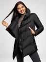 Куртка стеганая с объемным воротником oodji #SECTION_NAME# (черный), 10200079/32754/2900N - вид 2