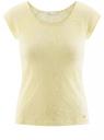 Футболка из ткани деворе oodji для женщины (желтый), 24707002/45516/5000F