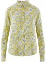 Блузка базовая из вискозы oodji для женщины (желтый), 11411136B/26346/5112F