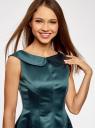 Платье приталенное с V-образным вырезом на спине oodji #SECTION_NAME# (зеленый), 12C02005/24393/6C00N - вид 4