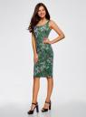Платье-майка трикотажное oodji #SECTION_NAME# (зеленый), 14015007-3B/37809/6241U - вид 6