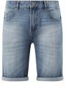 Шорты джинсовые с потертостями oodji #SECTION_NAME# (синий), 6B220013M/35771/7401W