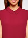 Блузка базовая без рукавов с воротником oodji #SECTION_NAME# (красный), 11411084B/43414/4900N - вид 4