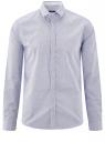 Рубашка хлопковая приталенная oodji для мужчины (белый), 3L110306M/19370N/1070G