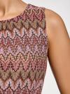 Платье макси с завязкой на поясе oodji #SECTION_NAME# (розовый), 24005138/45509/4749E - вид 5