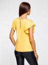 Блузка из вискозы с рукавами-крылышками oodji #SECTION_NAME# (желтый), 11411106/45542/5200N - вид 3