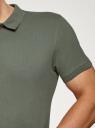 Поло из ткани пике oodji для мужчины (зеленый), 5B422001M/44032N/6602N