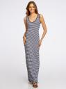Платье макси в полоску oodji для женщины (белый), 14005127/42626/1079S