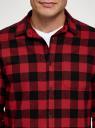 Рубашка хлопковая с длинным рукавом oodji #SECTION_NAME# (красный), 3L320016M/39882N/4529C - вид 4
