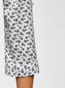Блузка из струящейся ткани с нагрудными карманами oodji #SECTION_NAME# (белый), 11403225-6B/48853/1229F - вид 5
