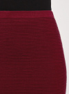Юбка вязаная в рубчик oodji #SECTION_NAME# (красный), 63612028-1B/45429/4900N - вид 5