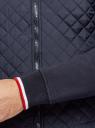 Куртка-бомбер с воротником-стойкой oodji #SECTION_NAME# (синий), 5L911045M/44111N/7900N - вид 5