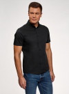 Рубашка базовая с коротким рукавом oodji #SECTION_NAME# (черный), 3B240000M/34146N/2900N - вид 2
