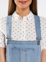 Комбинезон с шортами джинсовый oodji #SECTION_NAME# (синий), 13109060/45379/7000W - вид 4