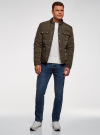 Куртка стеганая с накладными карманами oodji #SECTION_NAME# (коричневый), 1L111044M/39877N/3900N - вид 6