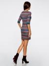 Платье жаккардовое с геометрическим узором oodji для женщины (разноцветный), 14001064-5/46025/7649G - вид 3