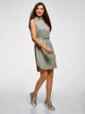 Платье хлопковое на кулиске oodji #SECTION_NAME# (зеленый), 11901147-5B/42468/6000N - вид 6