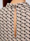 Блузка базовая без рукавов с воротником oodji #SECTION_NAME# (бежевый), 11411084B/43414/4029G - вид 5