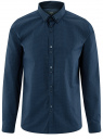 Рубашка хлопковая в мелкую графику oodji #SECTION_NAME# (синий), 3L110275M/44425N/7975G