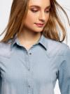Рубашка джинсовая на кнопках oodji #SECTION_NAME# (синий), 16A09003-1/46360/7012F - вид 4