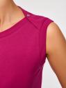 Платье из ткани пике oodji #SECTION_NAME# (розовый), 14005074-1B/46149/4700N - вид 5