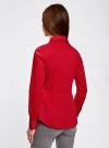 Рубашка хлопковая с металлическими кнопками oodji #SECTION_NAME# (красный), 21406034-1/42083/4500N - вид 3