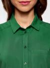 Топ вискозный с нагрудным карманом oodji для женщины (зеленый), 11411108B/26346/6E00N - вид 4