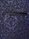 Брюки жаккардовые со стрелками oodji для женщины (синий), 21709006-1/38560/7529J
