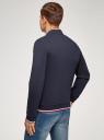 Куртка-бомбер с воротником-стойкой oodji #SECTION_NAME# (синий), 5L911045M/44111N/7900N - вид 3