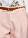 Брюки из фактурной ткани с ремнем oodji #SECTION_NAME# (розовый), 21714019-3/46742/4000N - вид 4