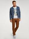 Куртка джинсовая с нагрудными карманами oodji #SECTION_NAME# (синий), 6L300009M/46627/7500W - вид 6