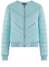 Куртка стеганая с круглым вырезом oodji для женщины (бирюзовый), 10203079/49439/7300B
