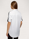 Рубашка хлопковая oversize oodji для женщины (белый), 13K11018/13175N/1000B