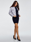 Платье вязаное с рукавом 3/4 oodji #SECTION_NAME# (синий), 63912222-2B/45109/7901N - вид 6