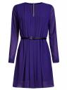 Платье из струящейся ткани с ремнем oodji для женщины (синий), 21913017/17358/7500N