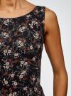 Платье из струящейся ткани с бантом на спине oodji #SECTION_NAME# (черный), 11900181-2B/35271/2941F - вид 5