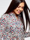 Блузка принтованная из легкого хлопка oodji #SECTION_NAME# (разноцветный), 21411144-5M/12836/1219E - вид 4