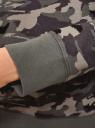Свитшот хлопковый прямого силуэта oodji для женщины (серый), 14807021-1B/46919/2325O