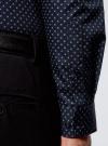 Рубашка хлопковая в мелкую графику oodji для мужчины (синий), 3L110335M/19370N/7975G - вид 5