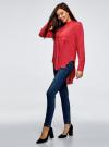 Блузка вискозная с удлиненной спинкой oodji #SECTION_NAME# (розовый), 11401258-1/26346/4D00N - вид 6
