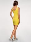 Платье-майка трикотажное облегающее oodji #SECTION_NAME# (желтый), 14001210/48152/5700N - вид 3