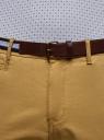 Брюки хлопковые с ремнем oodji для мужчины (бежевый), 2B150030M/44264N/3300N