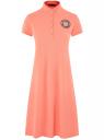 Платье-поло с принтом oodji для женщины (красный), 24001118-8/48433/4373P