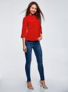 Блузка из струящейся ткани с нагрудными карманами oodji #SECTION_NAME# (красный), 11403225-6B/48853/4500N - вид 6
