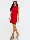 Платье без рукавов прямого кроя oodji #SECTION_NAME# (красный), 11900169/38269/4500N - вид 6