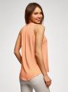 Топ базовый из вискозы oodji для женщины (оранжевый), 14911008-1B/48756/5400N - вид 3
