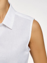Рубашка прямая без рукавов oodji #SECTION_NAME# (белый), 14911017/49224/1000N - вид 5