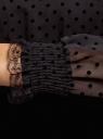 Платье из флока и кружева с резинкой на талии oodji для женщины (черный), 11913014/48866/2929D