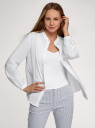Рубашка хлопковая с воротником-стойкой oodji для женщины (белый), 13L11030/45608/1000N