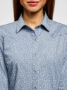 Рубашка джинсовая принтованная oodji для женщины (синий), 16A09003-3/47735/7912G